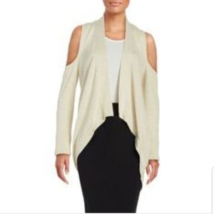 H By Halston Cold Shoulder Sweater